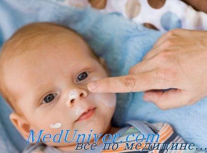 Местное лечение атопического диффузного нейродермита у детей