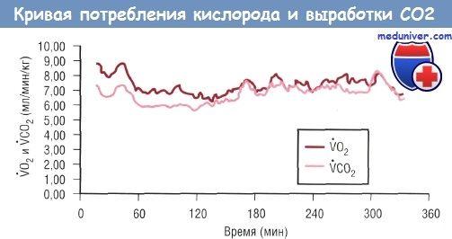 Методика непрямой калориметрии для оценки скорости расхода энергии и окисления веществ