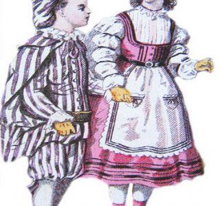 Dječja moda u 19. stoljeću. Povijest. Dječja odjeća pojavio tek prije 200 godina. Povijest dječjeg mode