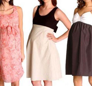 Како да се избере sundress за бремени жени (види слика). Кои се sundresses за бремени жени? Фустани и здолништа за бремени жени