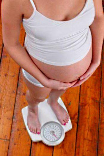 Незначительные изменения фигуры при беременности.