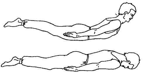 Олеснување на вежба во грбот (вежба 3)